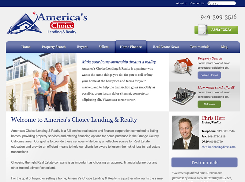 AC Lending & Realty | Orange County Web Design, California Web