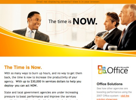 Microsoft - Orange County HTML Email Design