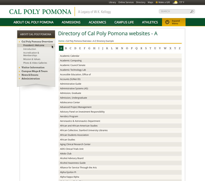 Cal Poly Pomona Academic Calendar.Cal Poly Pomona Orange County Web Design California Web Design